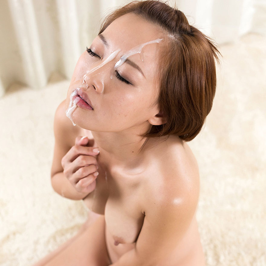 Japanese Facials. Japanese AV Idol Ayumi Kuroki nude with cum on her face in an uncensored facial video at Fellatio Japan.