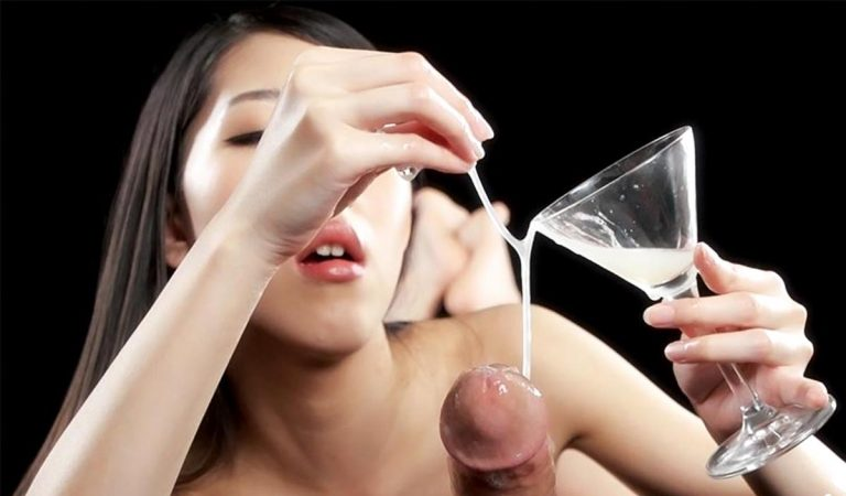 Rio Kamimoto, a nude JAV girl, gives a sloppy Cum Handjob and Blowjob in an uncensored video at Sperm Mania.