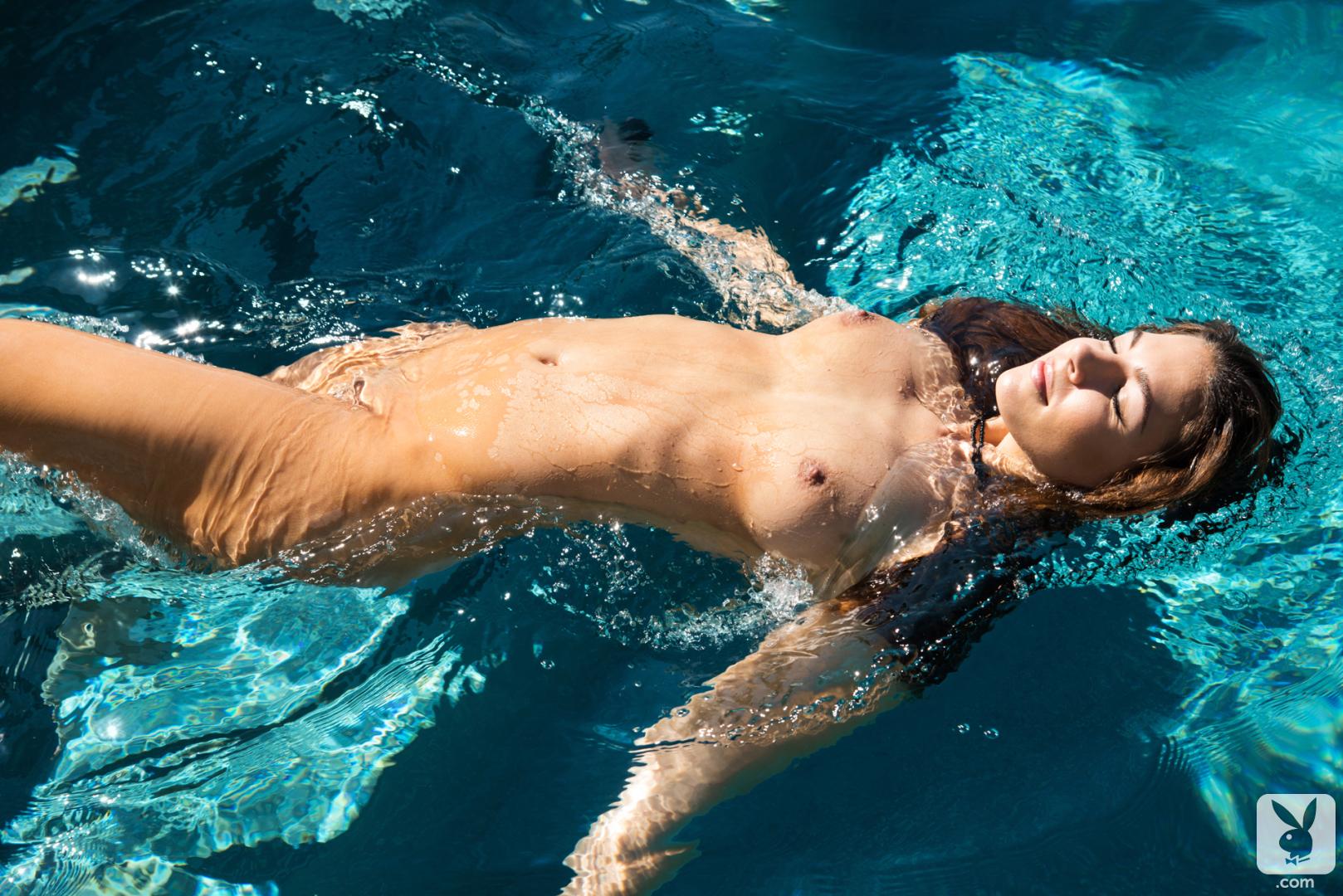 Nude girl swim photo
