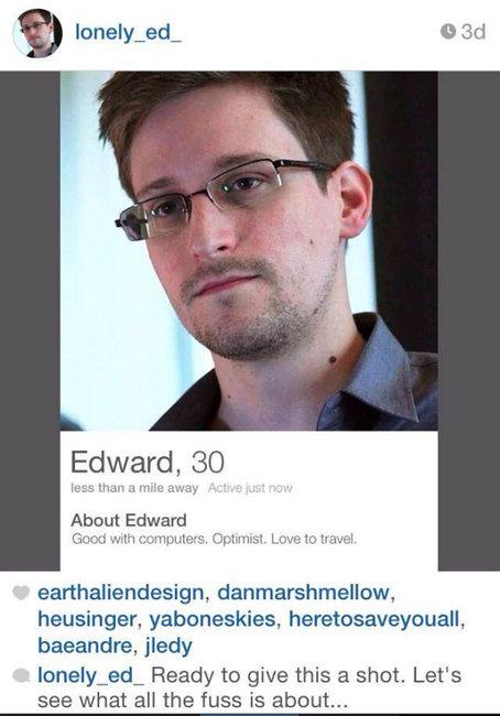Edward Snowden on tinder