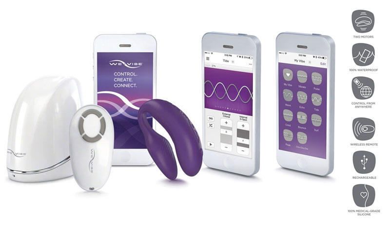The We-Vibe 4 Plus now has an app. Allowing couples to connect in new, exciting ways — whether they're in the same room or on a different continent. Push play.