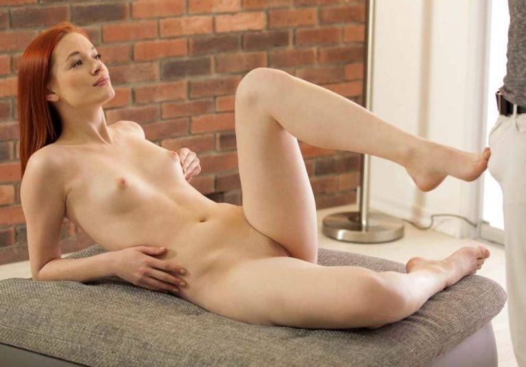 Amber Cute as a nude model in 'Art Of Anal' at NubileFilms.