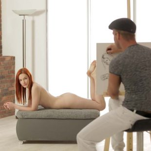 Amber Cute plays a nude model in  'Art Of Anal'