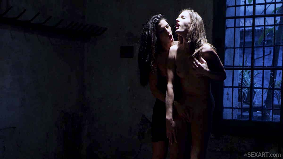 Alexa Tomas, Silvie Luca, Taylor Sands and Melena A nude in Outlines, a video series by Alis Locanta at sexart.