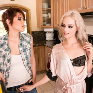 Elsa Jean and Lily Cade in The Plumber, a video at girlsway.