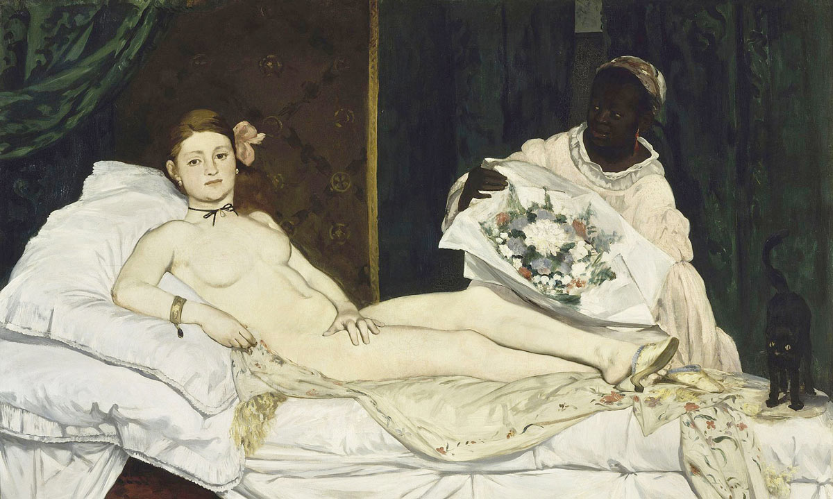 Olympia by Edouard Manet, the painting recreated by De Robertis. Photograph: Public domain