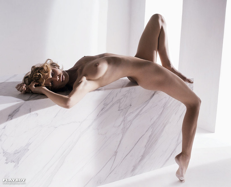 Eva Herzigová, the Czech supermodel, nude in Playboy.