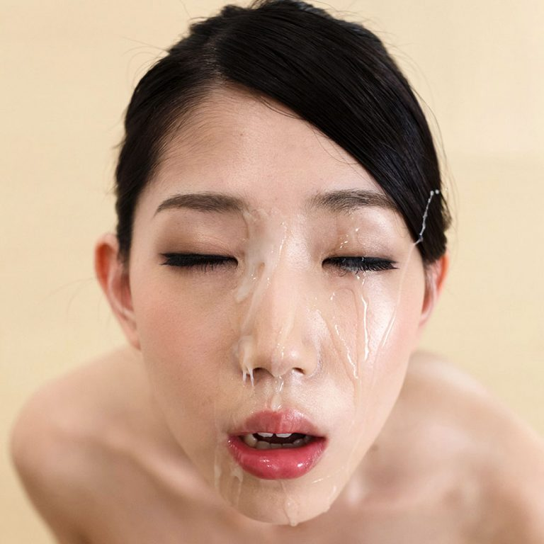 Japanese Facials. Japanese AV Idol Rio Kamimoto nude with cum on her face in an uncensored facial video at Fellatio Japan.