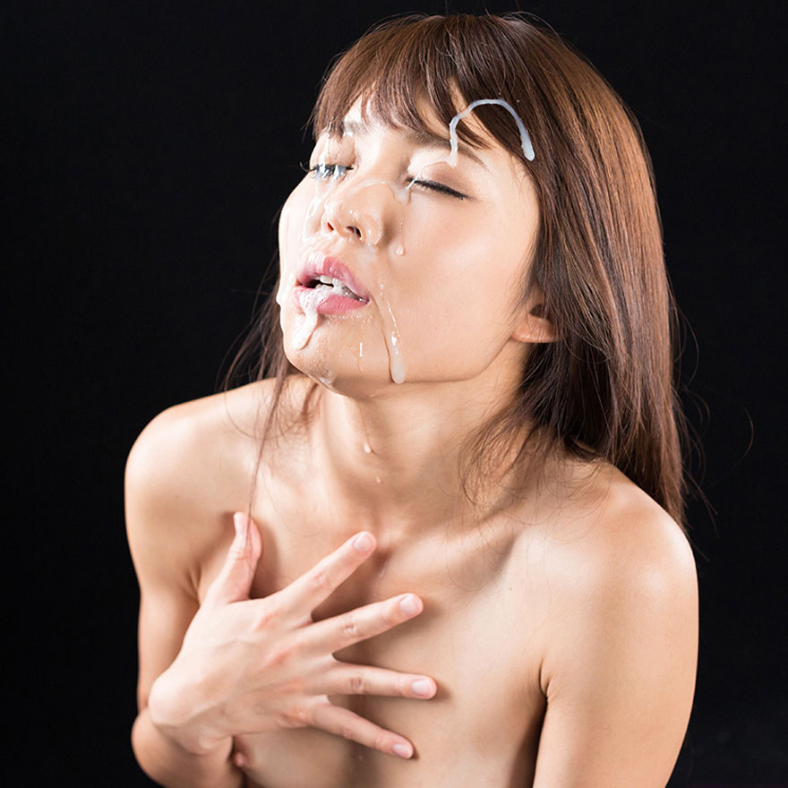 Japanese Facials. Japanese AV Idol Shino Aoi nude with cum on her face in an uncensored facial video at Fellatio Japan.