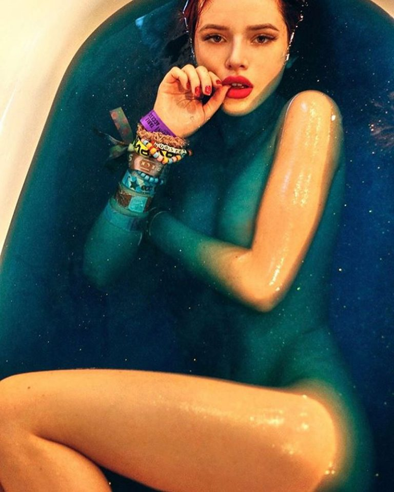 Bella Thorne nude in a bathtub. Digged at Mr. Skin's selection of nude celebrities.