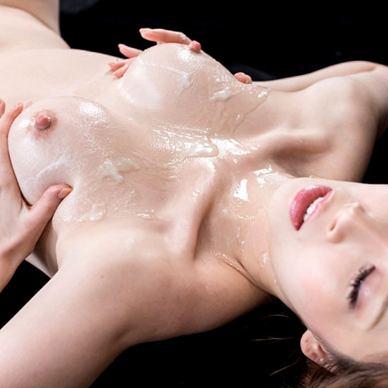 Aya Kisaki titjobs uncensored. A nude Japanese girl with cum covered tits in a video from Sperm Mania.