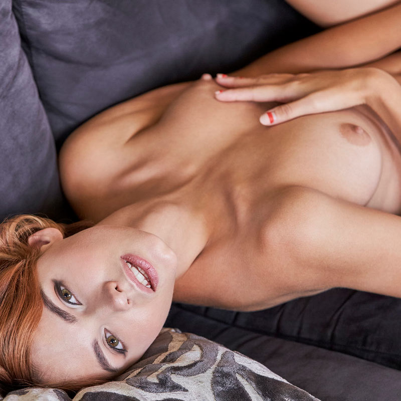 Ariel aka Lilliane aka Lilit nude in a masturbation video at x-art.