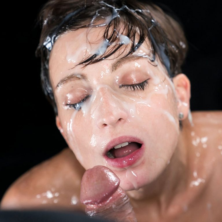 Bukkake facial uncensored video. French, nude girl Marie at SpermMania gets her naked body and her face covered in cum shots.