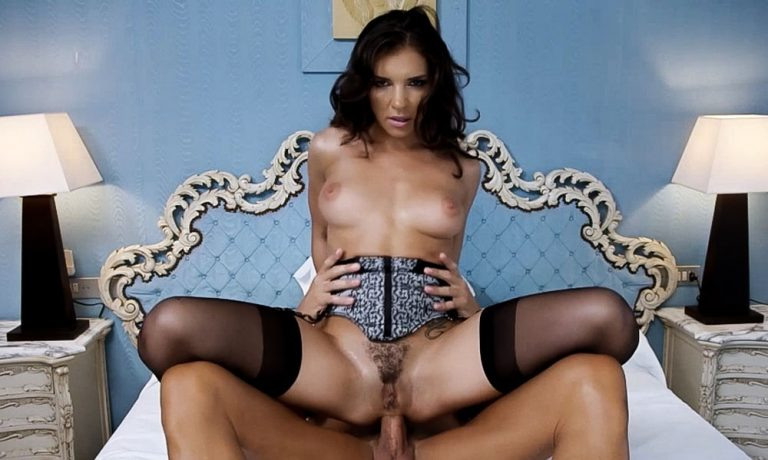 Henessy Anal sex in the uncensored video Nymphomaniac Anal Henessy at HarmonyVision. A nude girl in lingerie and black stockings sucking and fucking.