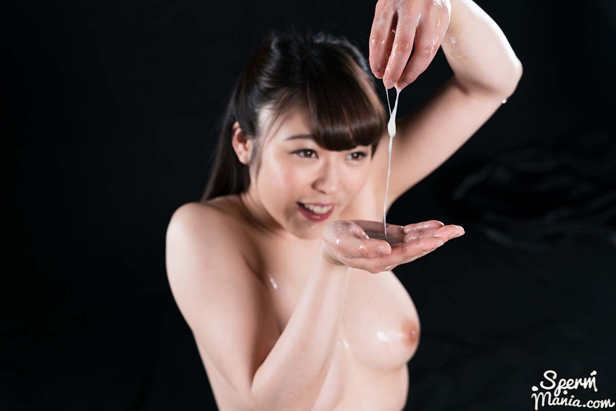 Yui Kawagoe's Cum Covered Group Handjob, an uncensored Cum Fetish video showing Blowjobs and a Group Cum Handjob by a nude JAV girl.