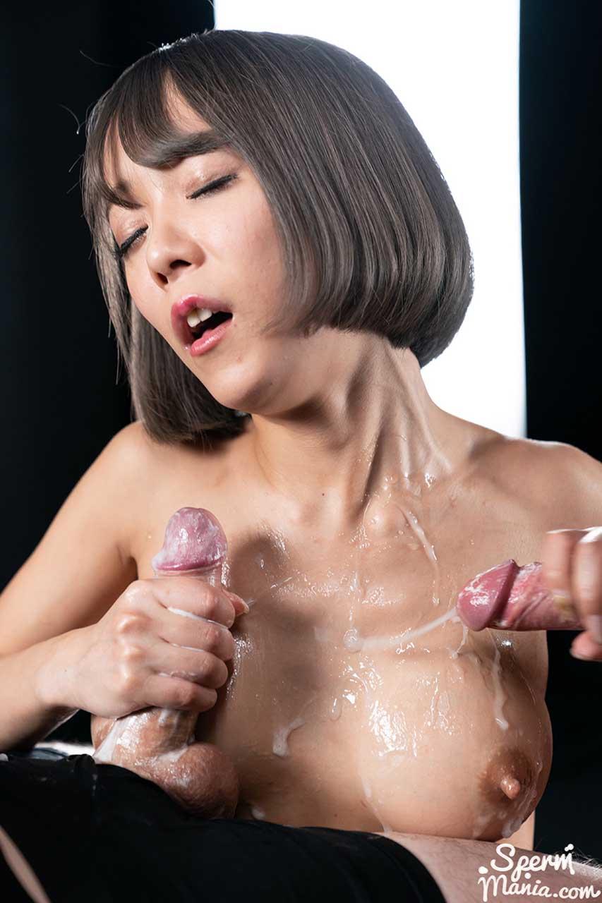Titjob With Nanako Nanahara's Cum Covered Tits. Japanese Actress Nanako Nanahara receiving 13 cumshots at SpermMania.