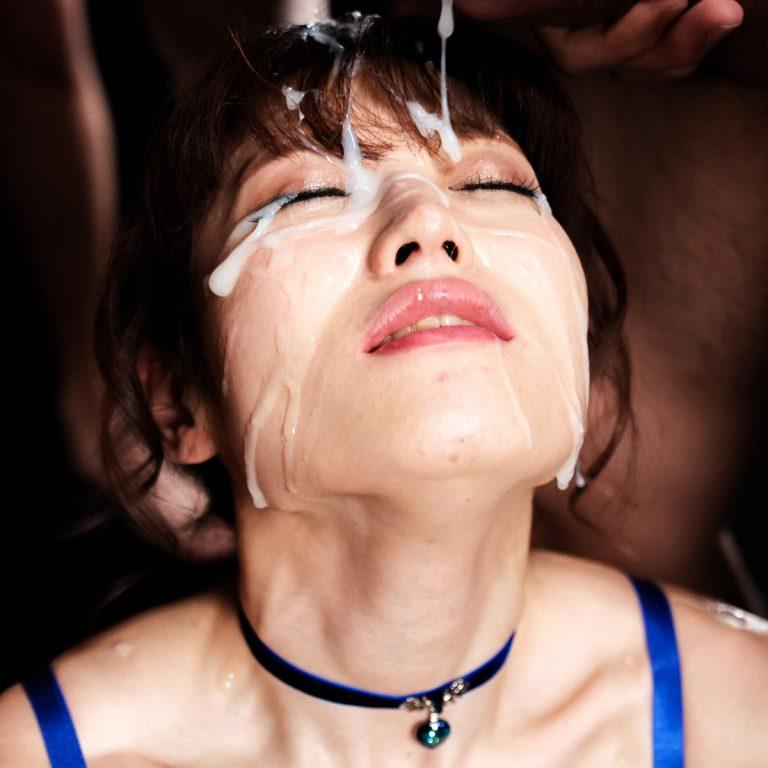 Mizuki's Sticky Bukkake Facial, an uncensored Cum Fetish video from SpermMania. A Japanese AV girl receives 31 cumshots.