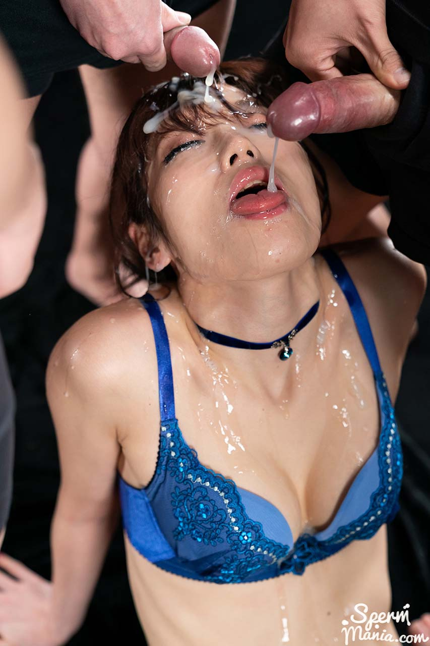Mizuki's Sticky Bukkake Facial, an uncensored Cum Fetish video from SpermMania. A Japanese AV girl receives 31 cumshots.